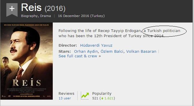 imdb erdogan dictator