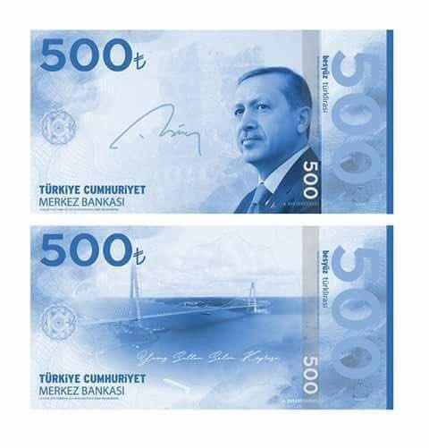 500 lira banknot