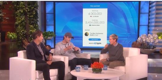 the ellen show ripple donation