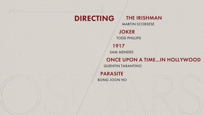 oscar 2020 nominees directing