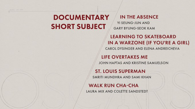 oscar 2020 nominees documentary short subject