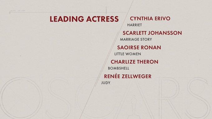 oscar 2020 nominees leading actress