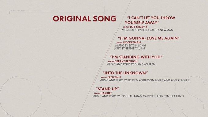 oscar 2020 nominees original song
