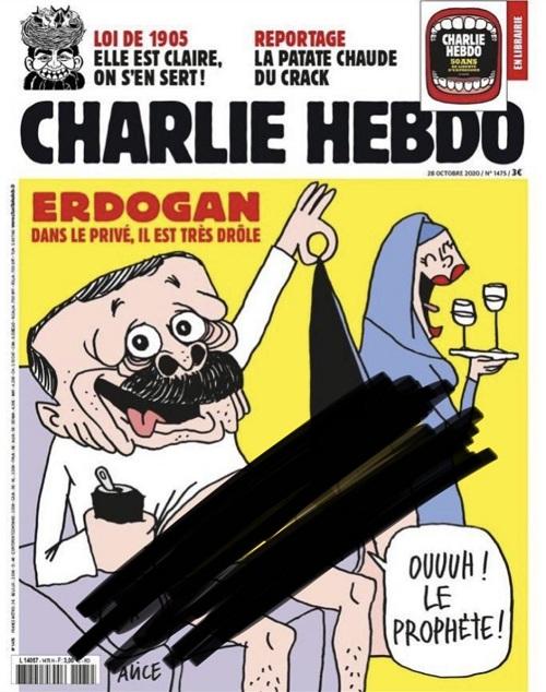 charlie hebdo erdoğan karikatürleri sansürsüz yayınlayanlara tepki