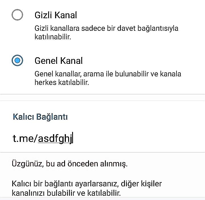 telegram-sayfa-kanal-kalici-baglanti-sorunu
